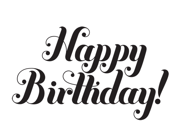 Happy Birthday Black And White With Images Happy Birthday Font