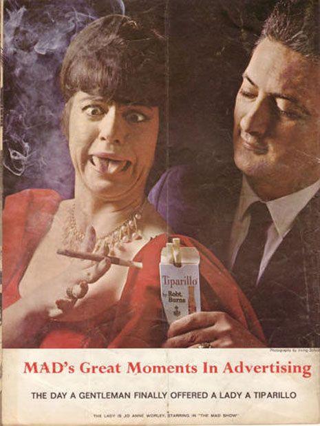 """22 """"locas"""" parodias de publicidad (vintage) realizadas por la revista MAD -"""