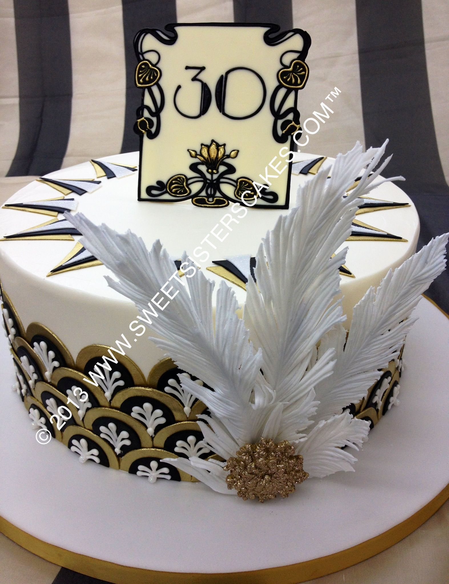 Art Deco Sheet Cake : A beautiful birthday cake! So 1920s! Birthday Party ...