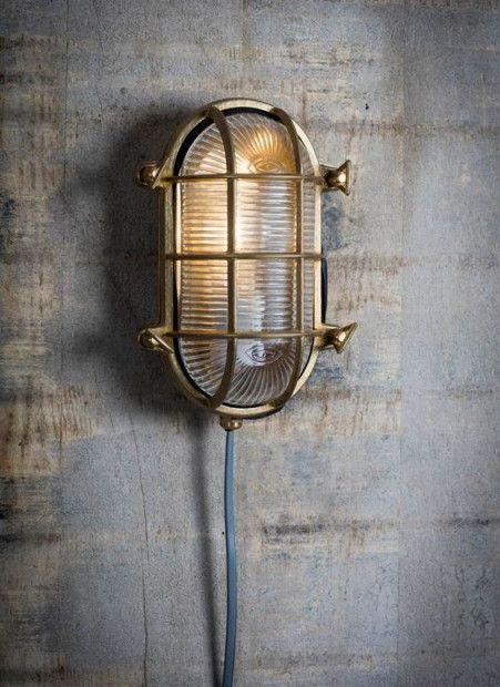 Bullseye Lamp Ovaal Quot Devonport Quot Messing Scheepslamp In