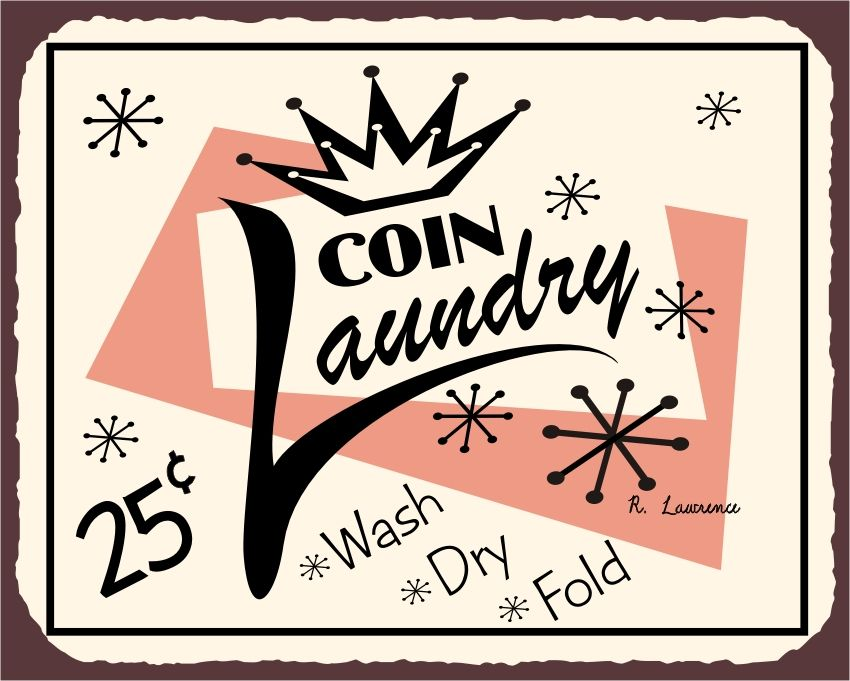 Coin Laundry Laundry Room Signs Vintage Laundry Coin Laundry