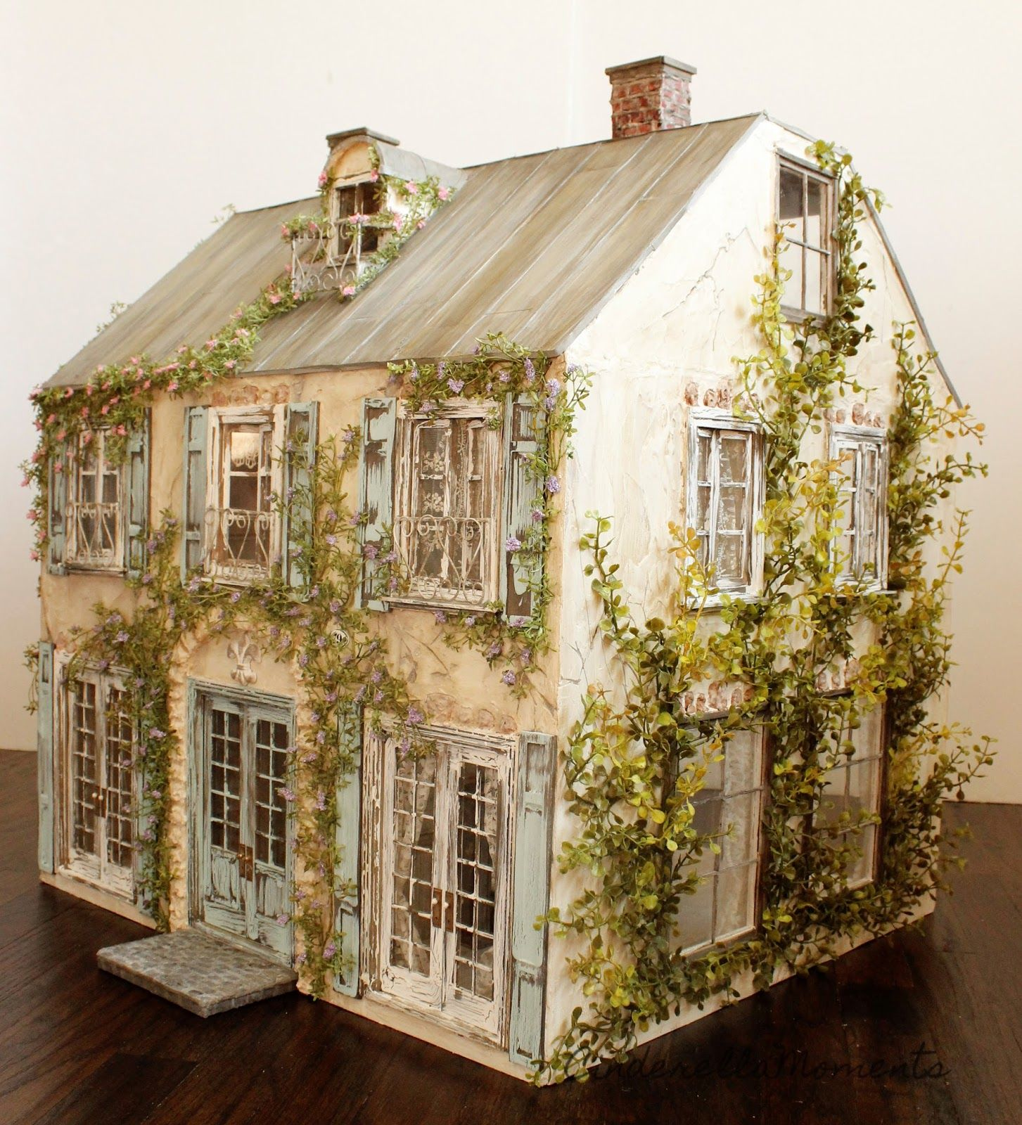 We're done with Somewhere in France dollhouse! This is a commission for Sharon in Australia. This house has a long trip home! This hous... #dollhouse