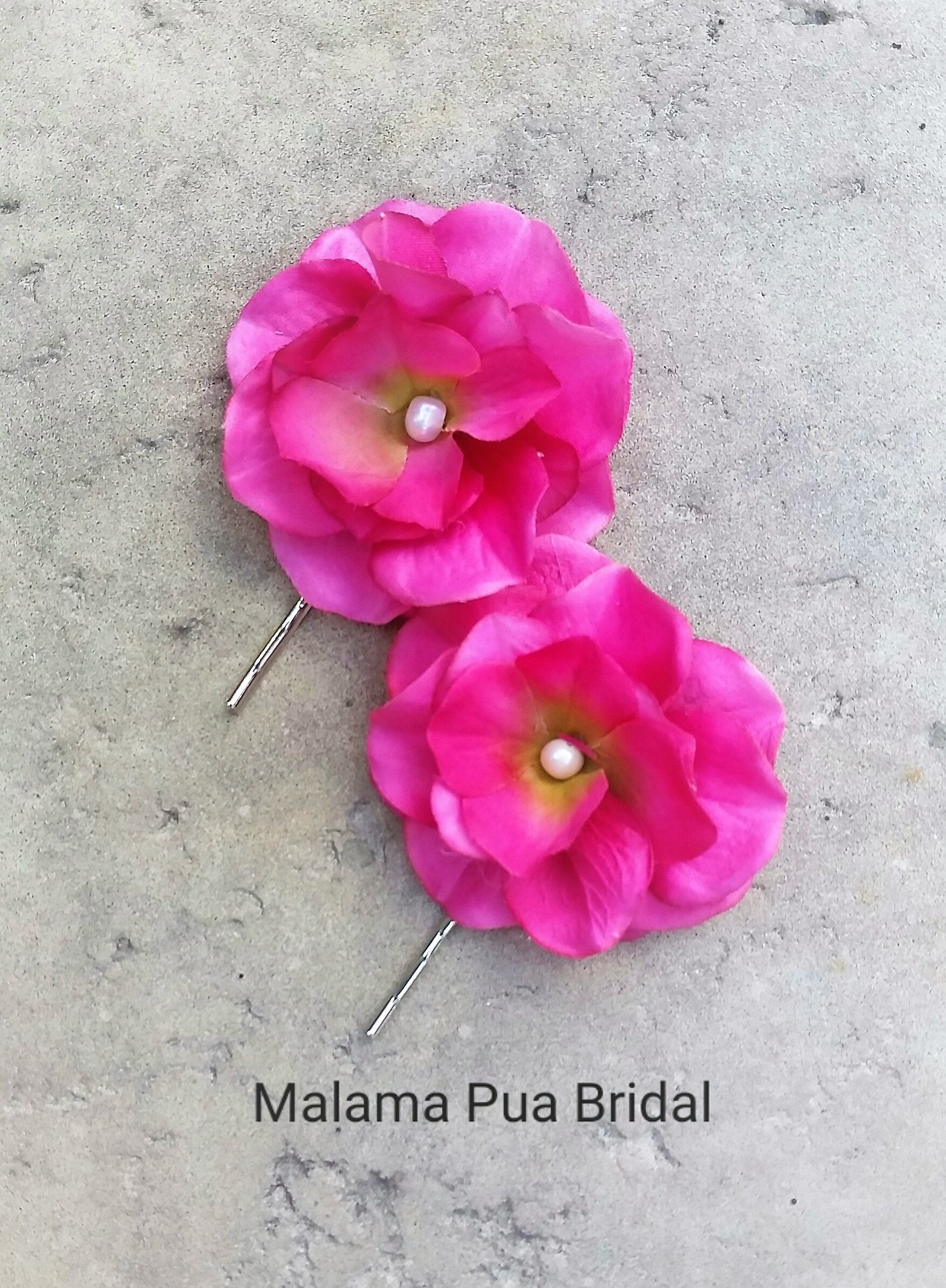 Wedding Flower Hair Pin Hair Accessory Petite Silk Hair Flower