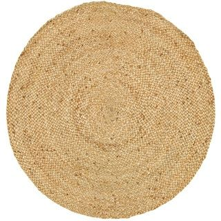 Shop for L and R Home Natural Jute Round Indoor Area Rug (3' x 3'). Get free shipping at Overstock.com - Your Online Home Decor Outlet Store! Get 5% in rewards with Club O! - 20861456