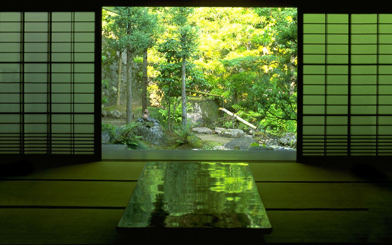 Japanese Tea Room Wallpaper Forwallpaper Com Beautiful Japanese Words Japanese Architecture Japanese Garden