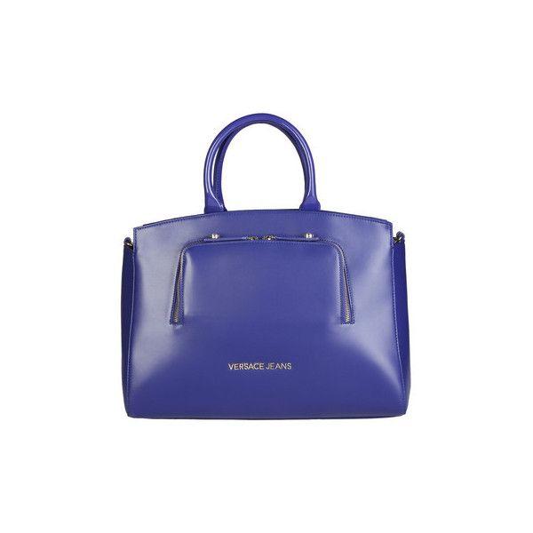 Versace Blue Handbags  - E1VOBBB1_75343 Handbags ($180) ❤ liked on Polyvore featuring bags, handbags and blue