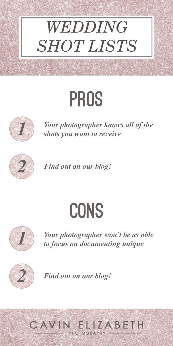 Wedding Shot Lists Pros And Cons  Wedding Shot List Shot List