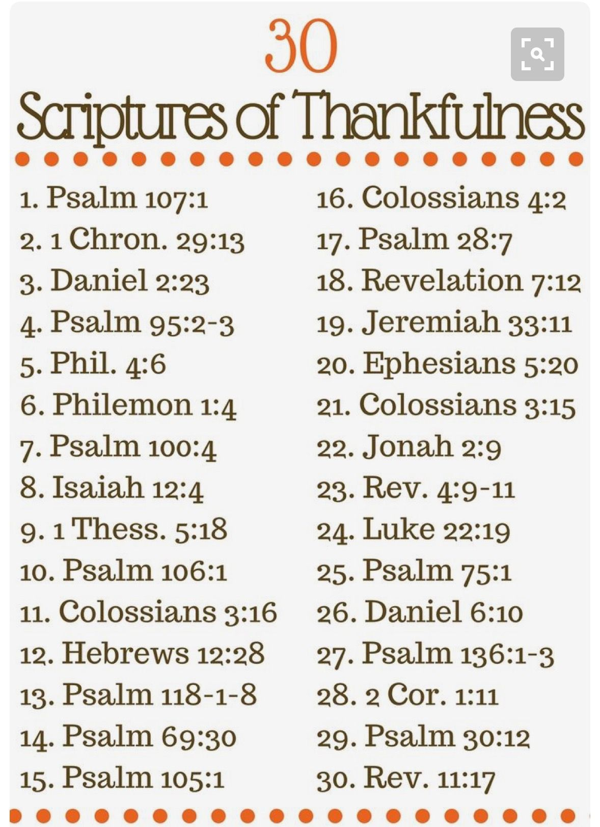 Scriptures Of Thankfulness
