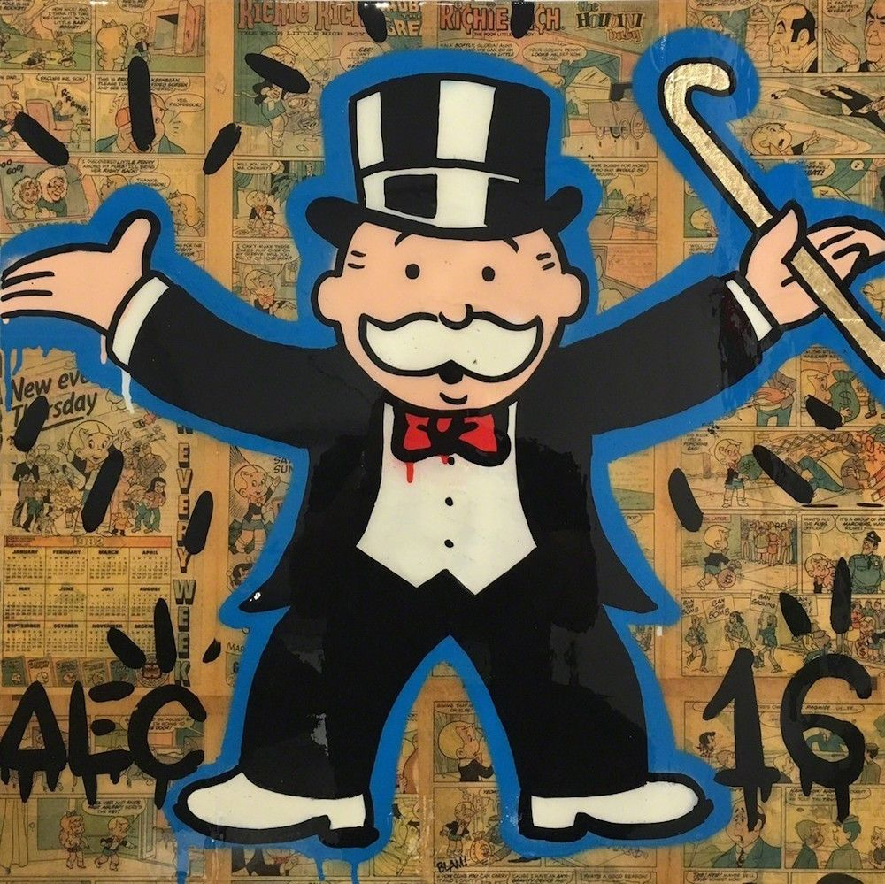Classic Monopoly Standing, ALEC MONOPOLY, 24 × 24 in, 61