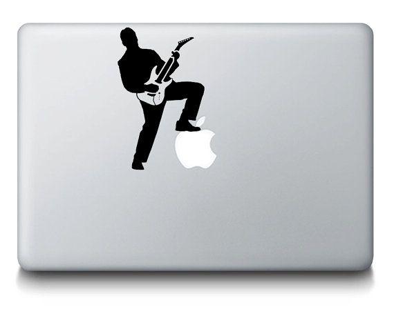 Rockstar singer guitarist band macbook laptop by stickerbrosdecals