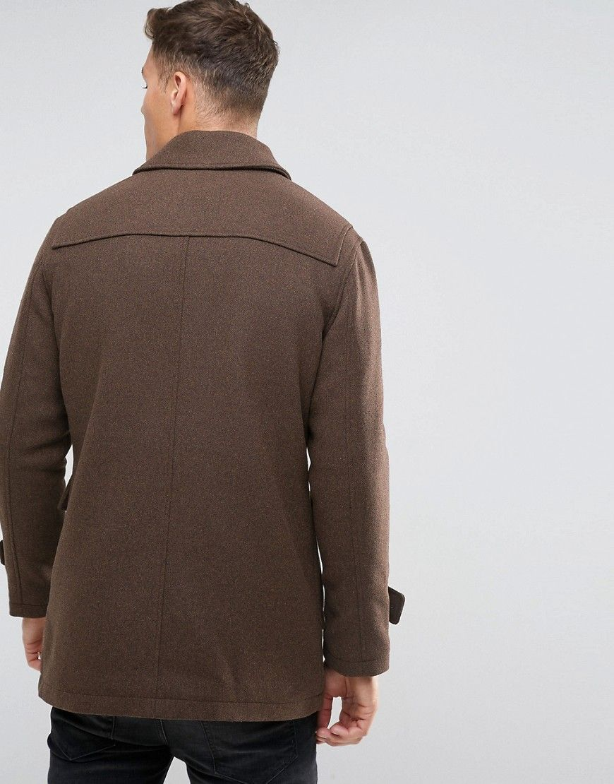 läsare fladdermus impuls  Selected Homme Wool Duffle Coat - Brown | Latest fashion clothes ...