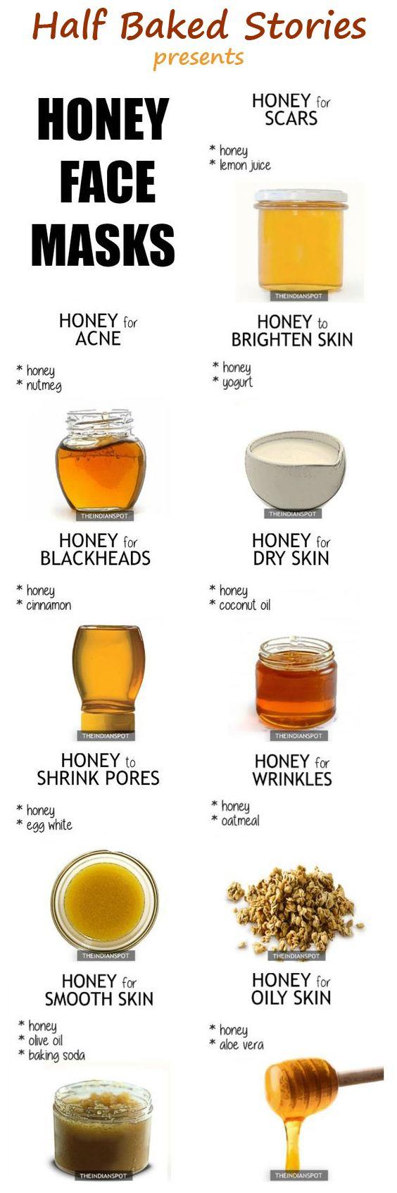 honey face mask for acne, oily skin #skincare
