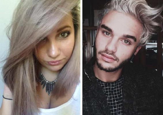 Cheveux apr s le blond platine le gris m tal les blondes blonde et gris - Blond platine gris ...