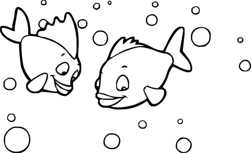 disegni per bambini di 3 anni disegno di pesciolini