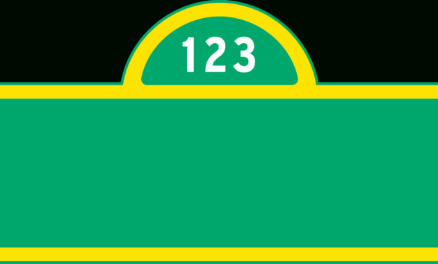 The Charming Sesame Street Sign Blank So It Can Be Customized In 2019 With Regard To Sesame Street Banner Templ Street Banners Sesame Street Signs Street Signs