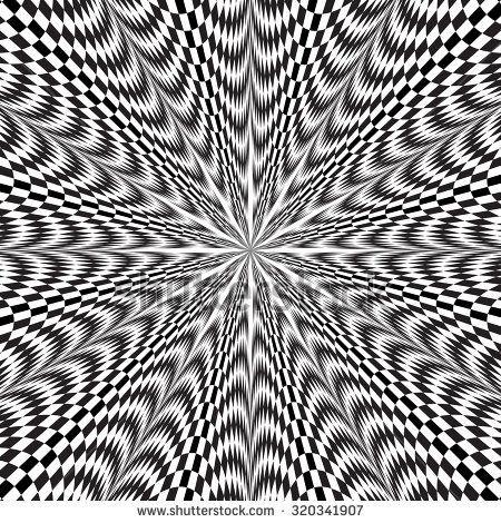 Op Art Star Pattern