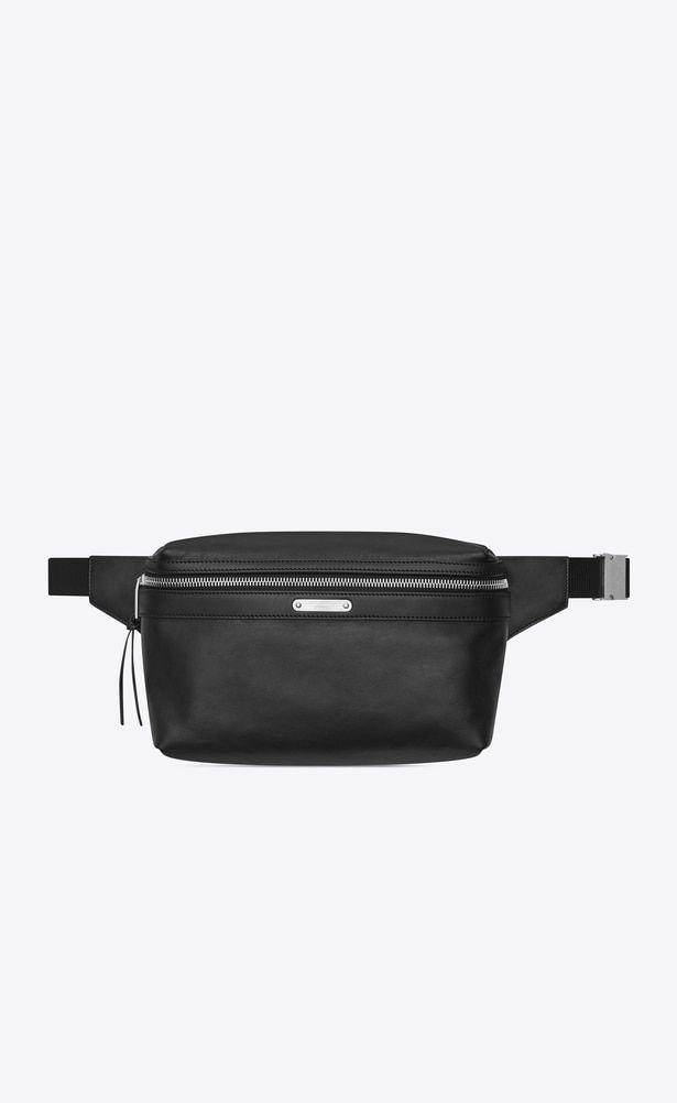 b303b81e28 SAINT LAURENT Belt Bags Man CITY belt bag in black leather a_V4 ...