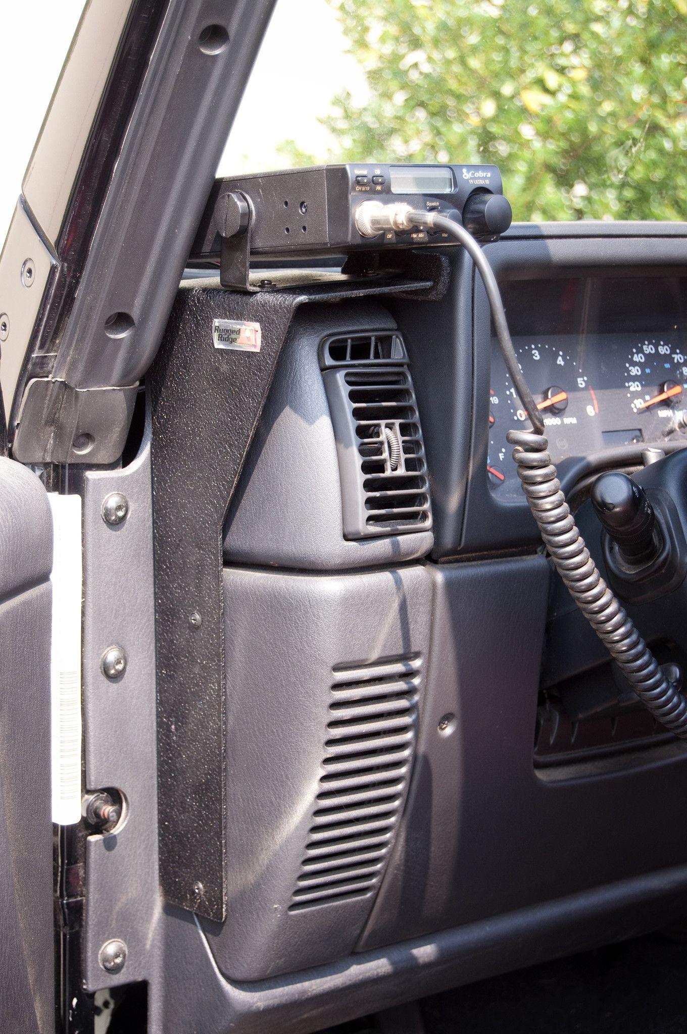 Cb Radio Dash Mount 97 06 Jeep Wrangler Tj Lj Jeep Wrangler Interior Jeep Wrangler Jeep Wrangler Tj