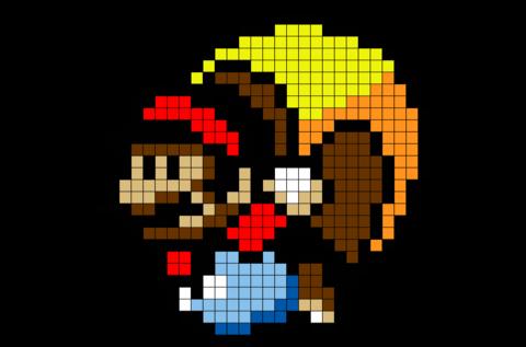 Caped Mario Pixel Art