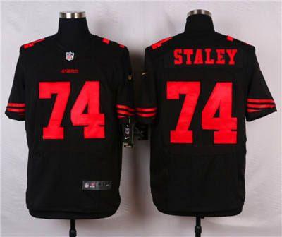 Men's San Francisco 49ers #36 Merton Hanks Black Retired Player NFL Nike Elite Jersey