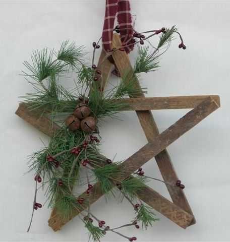 Make with paint stirrers: German Pine Wreath Decor