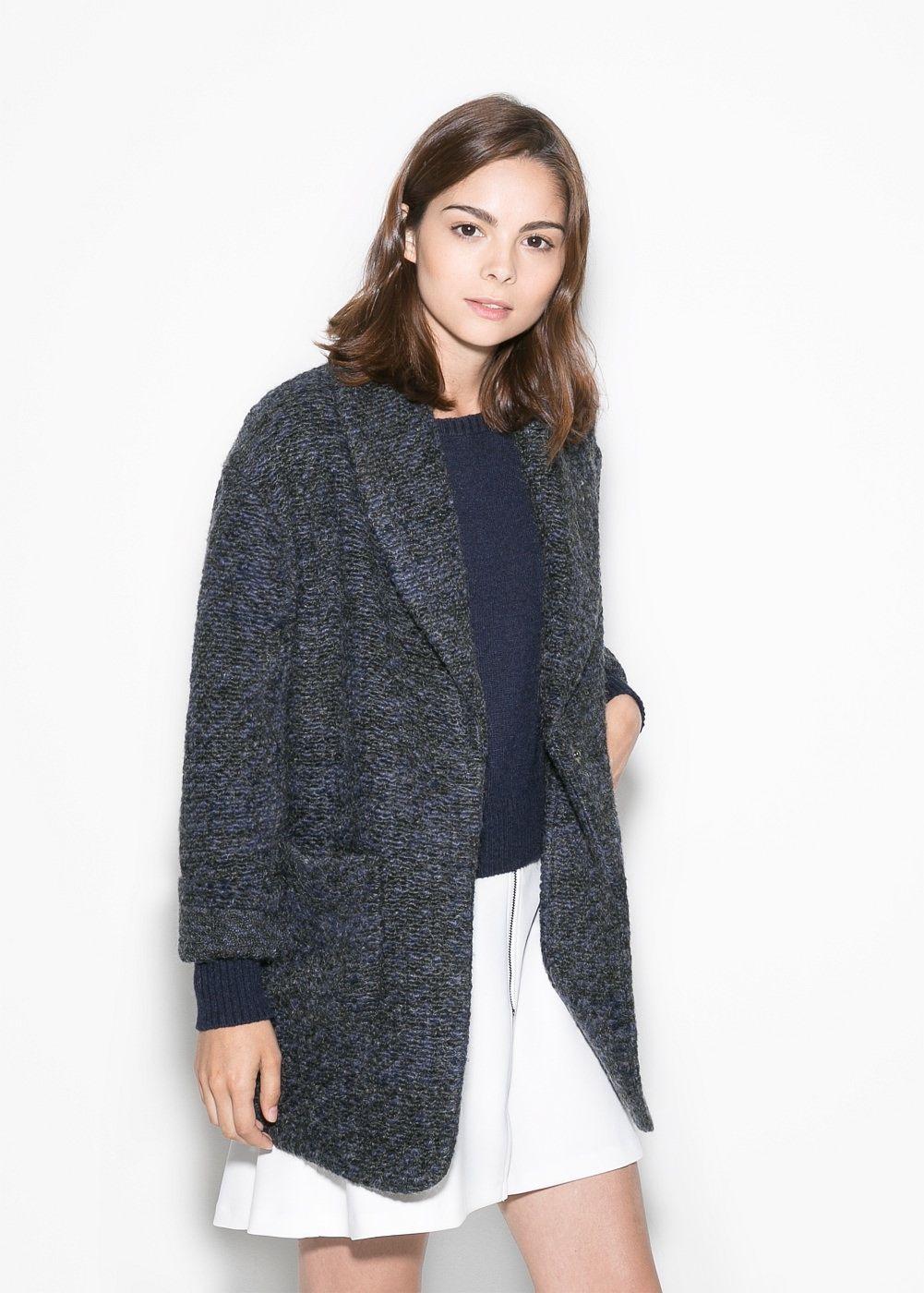 Boucle mantel warm