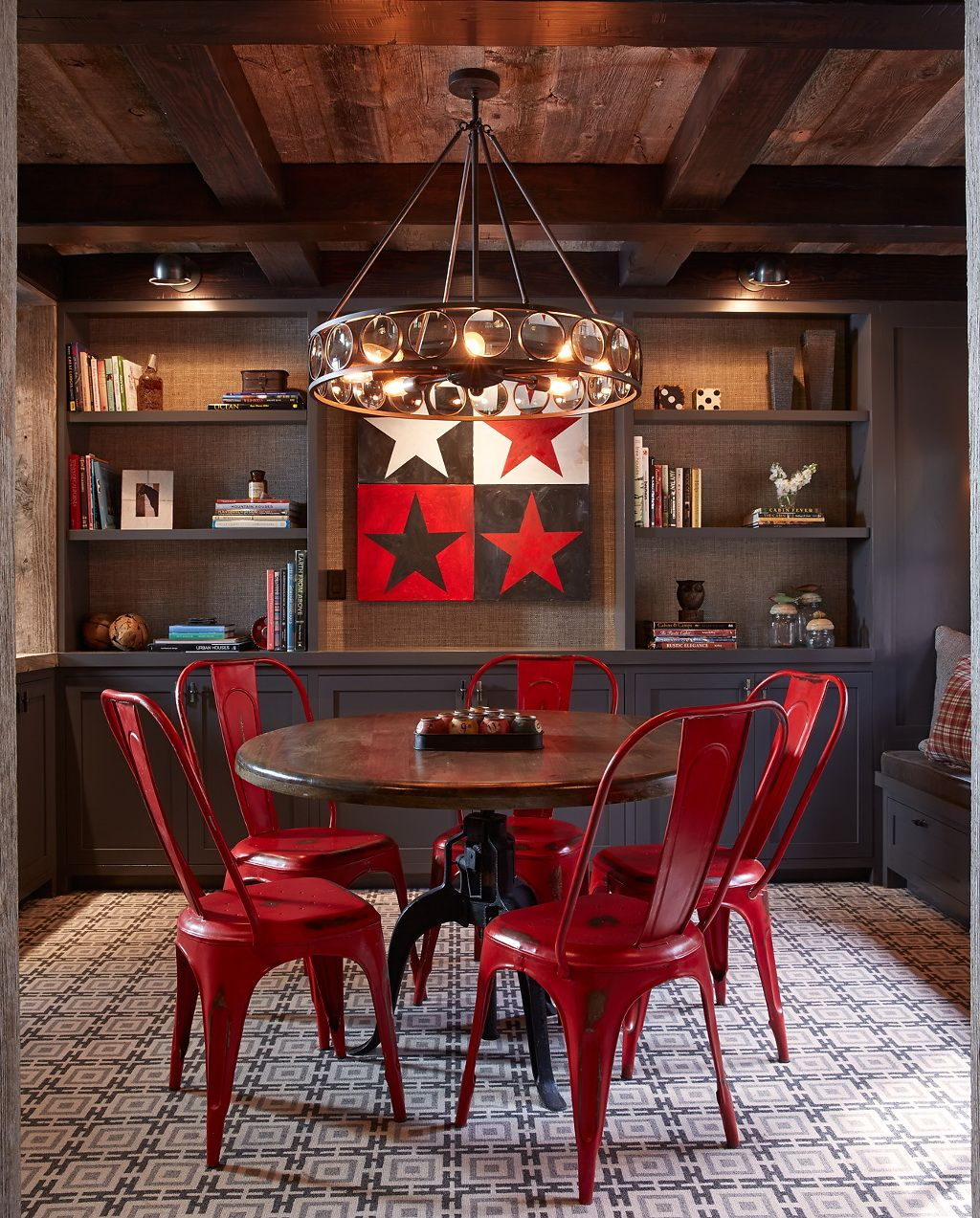 Raboty Dizajnerov Rustic Dining Room Red Dining Room Home Decor