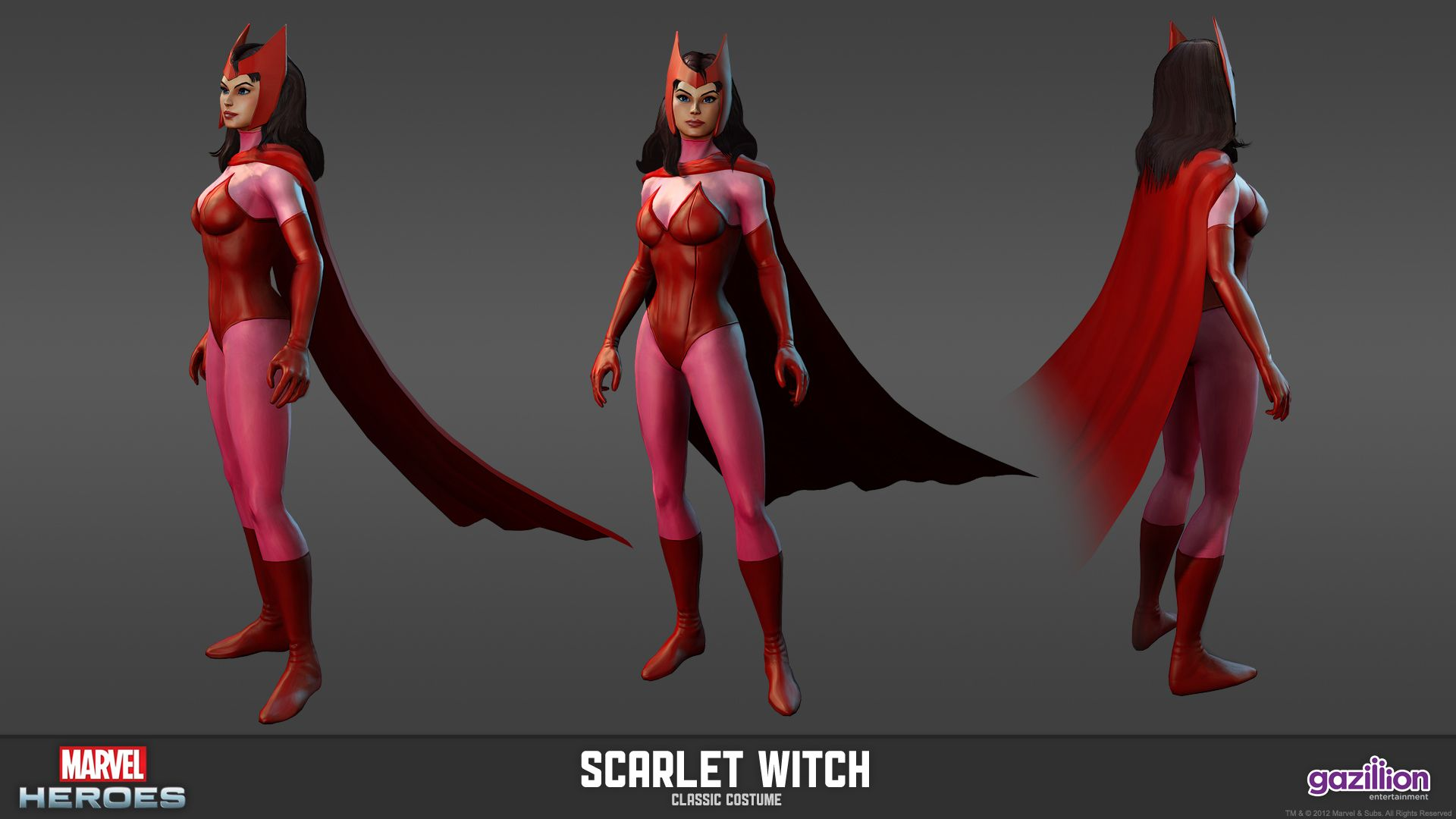 Scarlet Witch - Classic Costume | Marvel Heroes Model Sheets ...