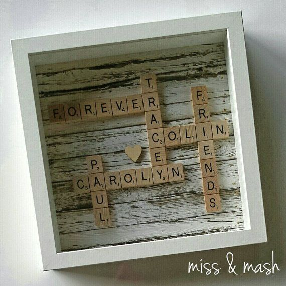Personalised Scrabble Family Name Frame Wall Art