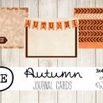 Autumn Journal Cards {Free Download}