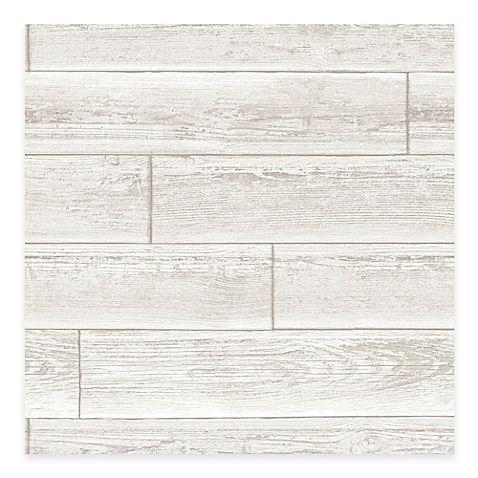 Wallpops Nuwallpaper Wood Paneling Peel Stick Wallpaper In Cream Wood Paneling Distressed Wood Wallpaper Removable Wallpaper
