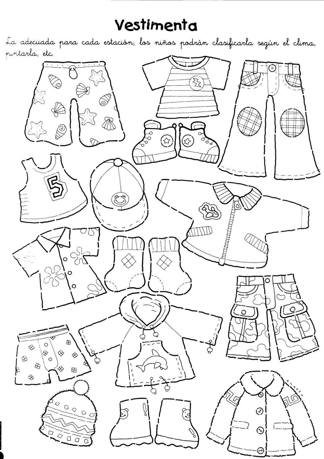 Dibujos De La Ropa De Las Estaciones Revista Maestra Infantil