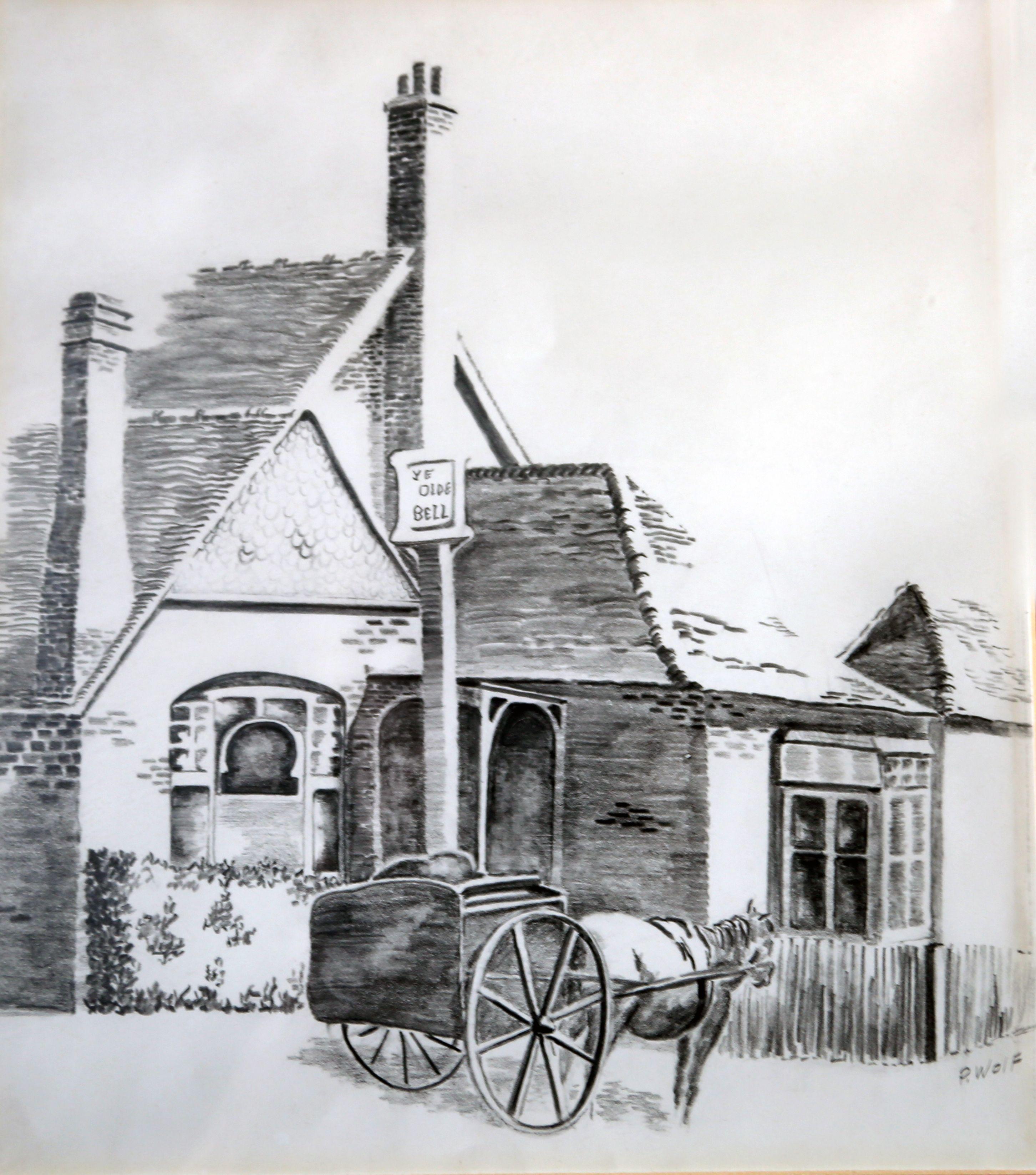Sketch Of An 1800s English Farmhouse