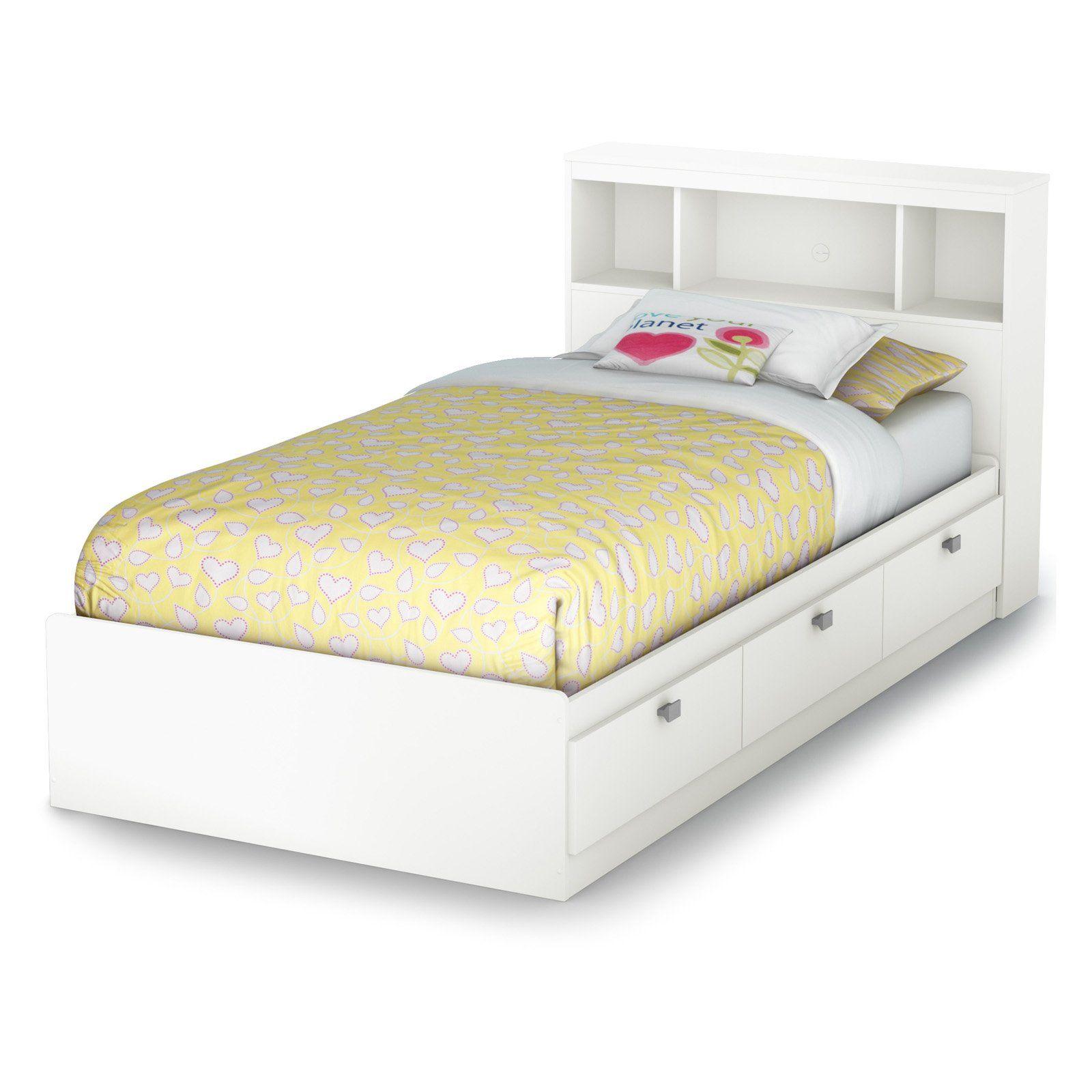Exceptionnel $249 Sparkling Bookcase Storage Platform Bed   Kids Beds At Kids Furniture  Mart