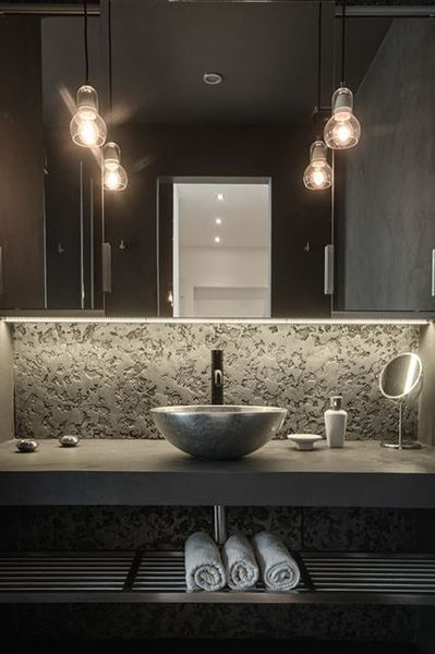 20 Modern Powder Room Design Ideas #modernpowderrooms 20 Modern Powder Room Design Ideas - ideacoration.co #modernpowderrooms