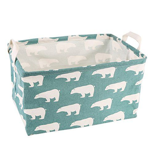 [Toy Storage Ideas] Storage Bins Toy Storage Basket Canvas Collapsible Toy  Organizer For Nursery U0026 Kidu0027s Toy, Gift Baskets (Green Bear) *** Click  Image To ...