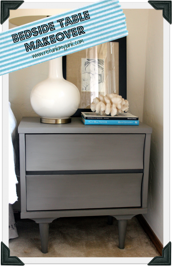 Trash to Treasure Retro Gray Bedside Table Makeover (With