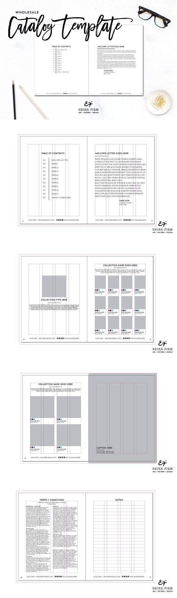 4 25 X 5 5 Id Catalog Template Magazine Template Templates Catalog