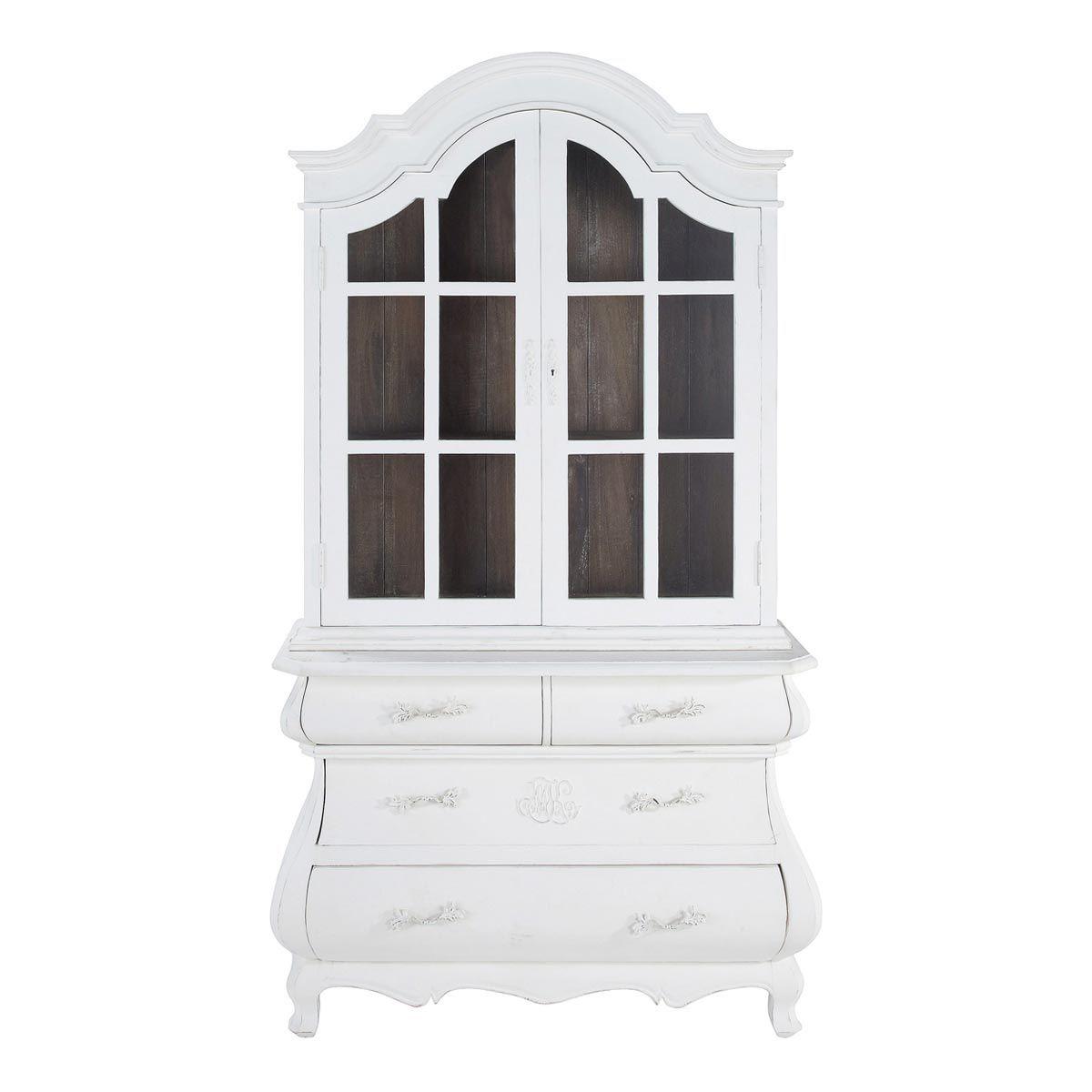 Vaisselier En Manguier Blanc L 125 Cm Montpensier | Maisons Du Monde · China  CabinetsCredenzaAffordable ...