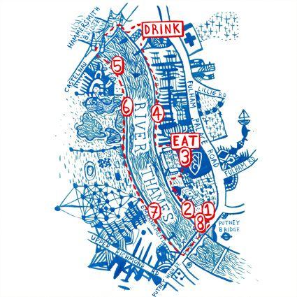 Thames River Map.