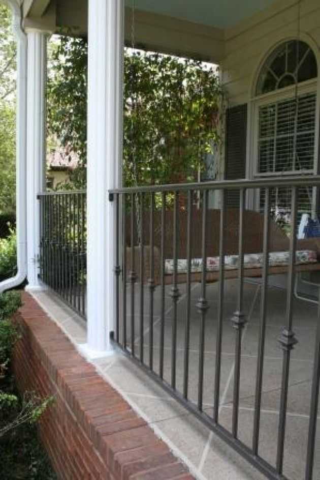 Porch Railing Basic But Not In Black This Is The Color I Want To