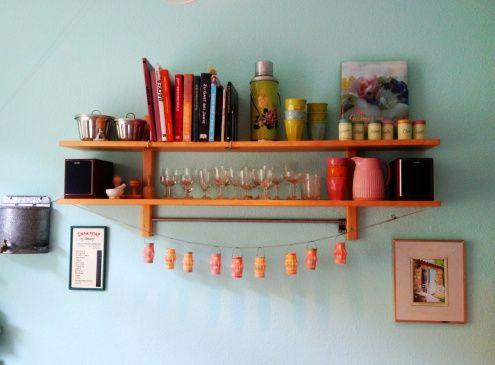 Meine türkise Küche, Tags Wand + Streichen + Türkis + Küche - küche deko wand