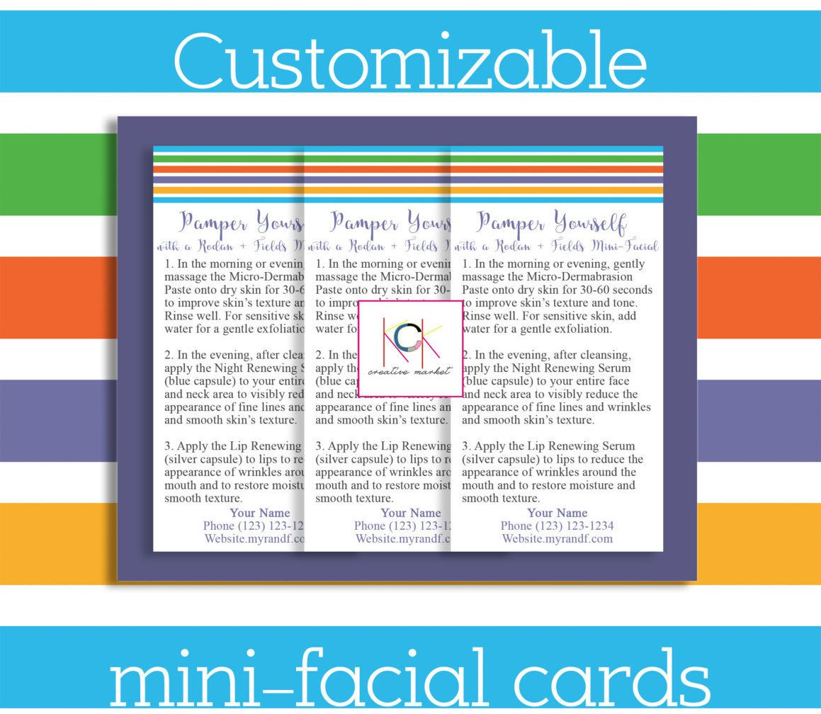 Rodan and Fields Mini-Facial Cards - Promotion - Network Marketing ...