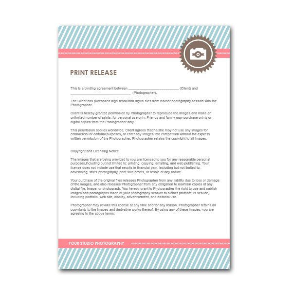 Squijoo - Hot Photoshop Templates For Photographers awesome - print release form