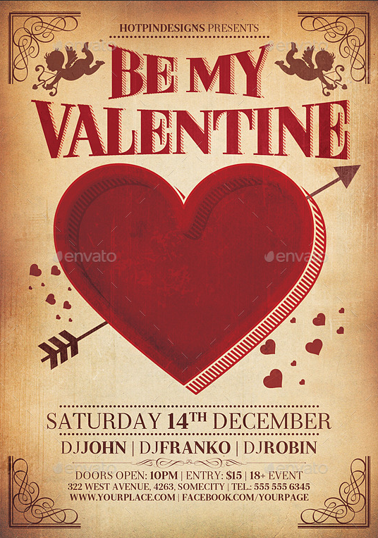 Pin By Candy Bee Designs On Flyer Templates Pinterest Valentines