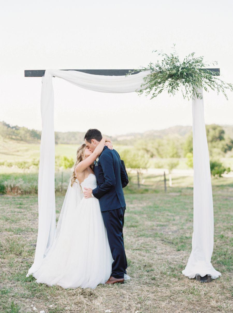 This wine country wedding is cinderella status vineyard wedding