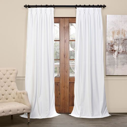 Signature Off White 25 X 96 Inch Signature French Pleated Blackout
