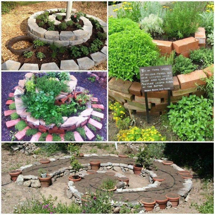 Herb Spiral Garden Idea