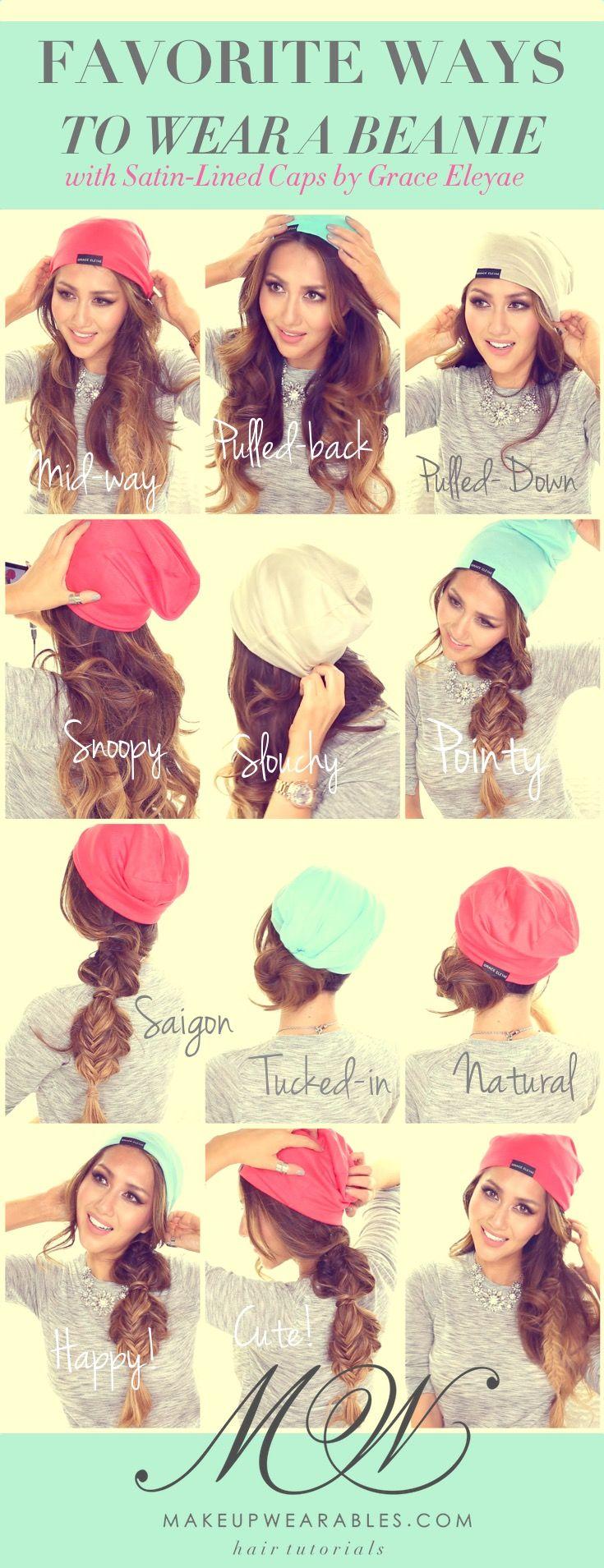 cute ways to wear a beanie - easy fall winter hairstyles | women's