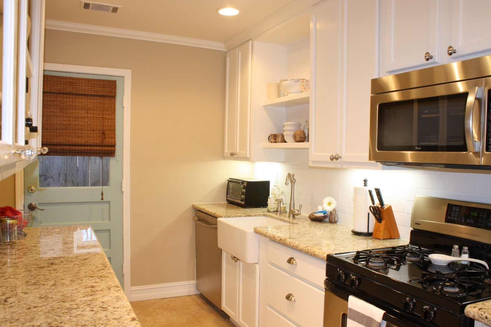 Wall Color Is Benjamin Moore Shaker Beige Cabinets Trim Ceiling BM White Dove Door Martha Stewart Tidewater